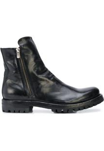 Officine Creative Ankle Boot Com Zíper - Preto