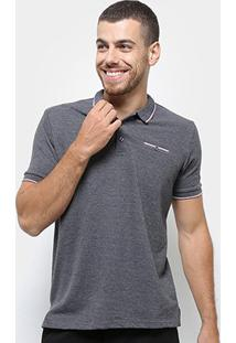 Camisa Polo Broken Rules Frisos Masculina - Masculino-Preto