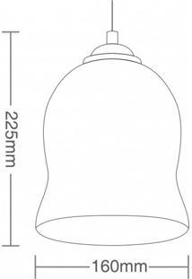 Pendente Cúpula De Vidro Elipse Td 3007 Taschibra Acobreado