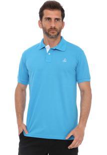 Camisa Polo Clube Náutico Slim Azul Turquesa