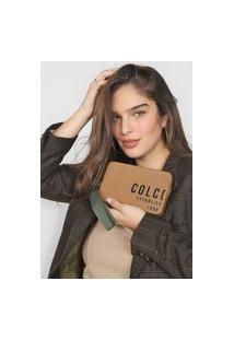 Clutch Colcci Lettering Bege/Verde