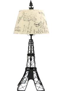 Abajur Kasa Ideia Torre Eiffel