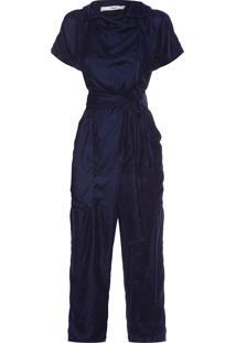 Macacão Feminino Medine Veludo - Azul
