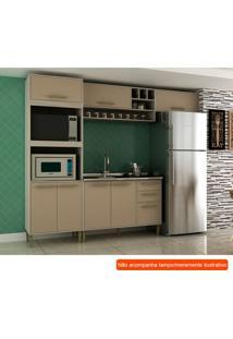 Cozinha Compacta Vitória I 7 Pt 3 Gv Capuccino E Creme