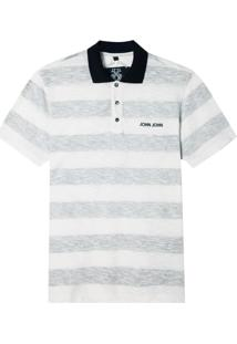 Polo John John Reverse Stripes Malha Listrado Masculina (Listrado, P)