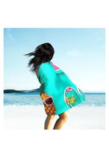 Toalha De Praia / Banho Bright Summer Color Único