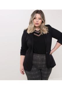 Blazer Básico Curve & Plus Size