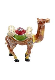 Porta Jóia Camelo Em Zamac 11,5 X 4,5 X 11 Cm - Unissex