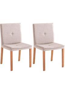 Conjunto Com 2 Cadeiras De Jantar Mazy Cinza E Castanho