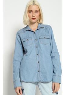 Camisa Jeans Lisa - Azul- M. Officerm. Officer