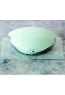 Arandelas Prata Vidro Transparente Fosco 1,L60W