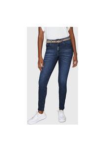 Calça Jeans Lez A Lez Skinny Estonada Azul-Marinho