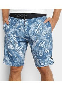 Boardshort Mcd Birdboom Masculino - Masculino-Azul