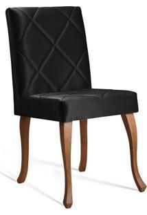 Cadeira De Jantar Leonardo Da Vinci I Losan Cetim Preto