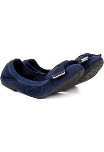 Sapatilha Couro Shoestock Elástico Camurça Feminina - Feminino
