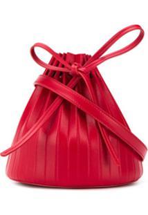 Mansur Gavriel Bolsa Bucket Com Pregas - Vermelho
