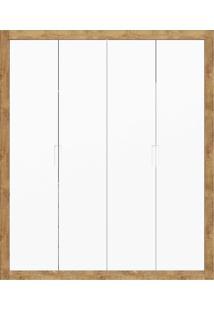 Guarda-Roupa 4 Portas Tutto New Branco E Teka Matic Móveis