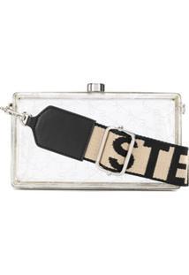 Stella Mccartney Clutch Com Logo - Branco