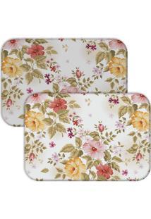Jogo Americano Love Decor Wevans Premium Flowers Floral - Multicolorido - Dafiti