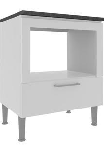 Armário De Cozinha 1 Gaveta Com Espaço Para Forno 0868 Branco - Genialflex