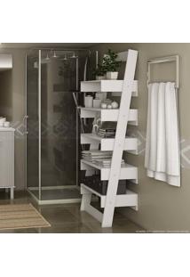 Estante Para Banheiro 5 Prateleiras Branco - Urbe Móveis