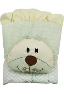 Capa De Carrinho Com Travesseiro Bruna Baby Chevron Verde