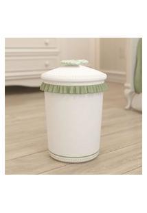 Lixeira Bebe Branco/Bege Alice Gráo De Gente Verde