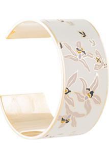 Tory Burch Bracelete Estampado - Branco