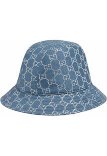 Gucci Chapéu Bucket Gg Em Lamê - Azul