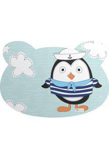 Tapete Pet Mdecore Urso Pinguim Verde 54X39Cm