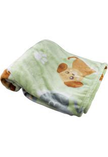 Cobertor Hetruria Para Bebê Pets Verde Etruria Verde