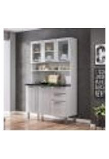 Cozinha Compacta Regina L 6 Pt 2 Gv Branca 120 Cm