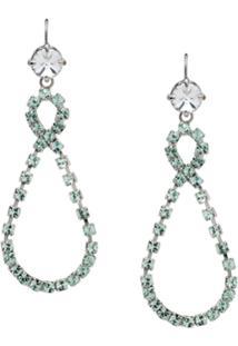Miu Miu Crystal Drop Earrings - Metálico