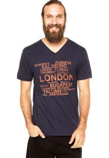 Camiseta Aleatory London Azul