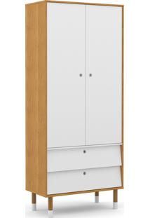 Roupeiro 2 Portas Up Freijó/Branco Soft/Eco Wood Matic Móveis