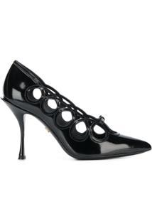Dolce & Gabbana Scarpin Polido 'Lori' - Preto