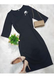 0ccf79d770 Madame Chic. Vestido Tubinho Justo Clássico