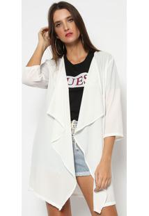 Kimono Liso Texturizado- Branco- Guessguess