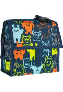 Bolsa Térmica Kids Packit Lanche Monsters 20X20Cm - 30019