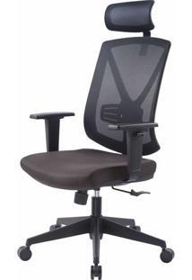 Cadeira Escritorio Forma Tela Mesh Preta Com Rodizios - 41009 - Sun House