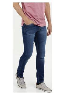 Calça Masculina Jeans Skinny Bolsos