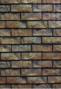 Papel De Parede Autoadesivo Tijolinhos Marrom Texturizado - Chi1385-5793 - Yins Home