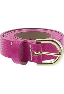 Cinto Feminino Stz Textura Snake Pink Rosa