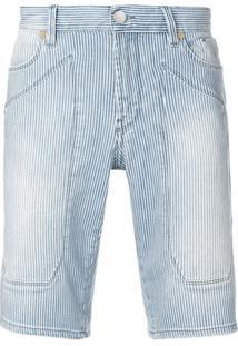 Jeckerson Bermuda Jeans Listrada - Azul