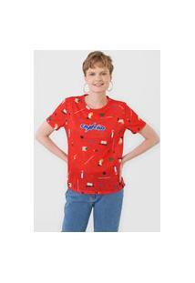 Camiseta Cantão Bauhaus Vermelha