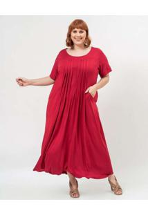 Vestido Almaria Plus Size Garage Longo Liso Roxo