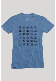 Camiseta Reserva Capacetes Masculina - Masculino-Azul