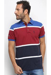 Camisa Polo Aleatory Fio Tinto Bicolor Masculina - Masculino-Bordô