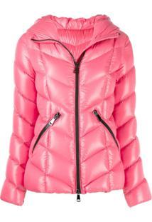 Moncler Zip-Up Hooded Jacket - Rosa