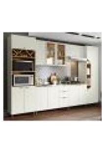 Cozinha Modulada 6 Peças 100% Mdf Essencia 3 Areia Nature Henn